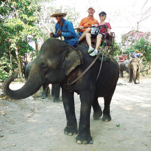 Jim and Peggy Hall in Thailand