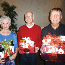 The winners for February (left to right) are Fran Stevenson, Bill McCoach and Scotty Scot