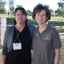 Leslie Schleicher with February Program speaker Lee Ann Aronson