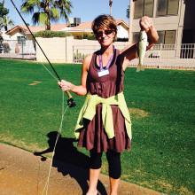 Tammy Dockter shows her catch.