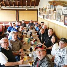 Aero Club members enjoyed their meal!