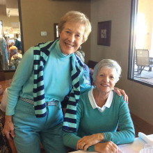 Sue Richmond and Kay Lehmkuhl enjoy our March luncheon