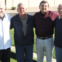 Our own Arizona Senior Bocce Olympics Tournament Winners! From left are Michael Buscaglia, Ralph Falvo, Bill Janicki and Gary Bross. Congratulations to you all for a fine competition!