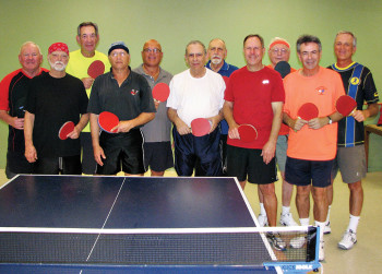 Pictured are the 2015 Sun Lakes Table Tennis Club tournament members Steve Chambers, Steve Weitz, Rich Nadler, David Novikoff, Doc Doctor, Alan Behr, Jim Spolar, Bill Aichele, Gerry Vogelsang, Steve Langer and David Zapatka