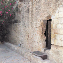 Empty Tomb; photo was taken by Norm Noble