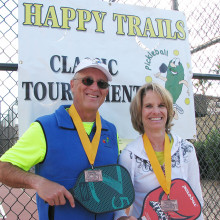 Happy Trails 4.5 Mixed Doubles Bronze medal winners David Zapatka and Dianne Zimmerman