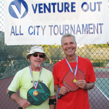 Venture Out 4.0 Men's Doubles Silver medal winners Greg Mather and John Edmunds