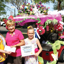 The CWPV Golf Cart Parade first place winner for Best Decorated was Dorothy Deschenes.