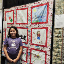Encouraged by her grandmother, Rita Magee, Avery Magee and Brownie Troop 617 became the youngest quilters in Agave Quilt Show history. Hats off to the next generation.