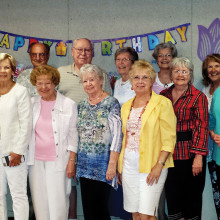 Cheers members at the quarterly birthday party!