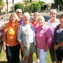 New officers for the Sisk Bocce Ball Club (left to right): Judy Hester, past president; Pam Hansen, secretary; Dianne Severa, vice-president; Harry Bicchieri, social director; Terry Sporleder, division director; Sharon Bicchieri, social director; Irene D'Aloisio, president; and Gary Vacin, publicity Director.
