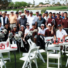 The Lakers Niners and members of the Hamilton Boys Golf Team. Photo taken by Jonathon Yu.
