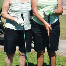 Guest Day March 17 - Teri Tinney (guest) playing golf with Chris Frazon (member)