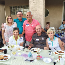 Pictured left to right: back row Susan Schaeffer, Lloyd Schaeffer and John Gaudioso; front row Jo Anne Gaudioso, Lou Giallonardo and Dolly Giallonardo