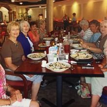 Pictured (from left) Dorothy Vacin, Sandy Roach, Kathy Markham, Judy Crane, Bobbi Luisi, Blye Zaysoff, Cheryl Houde, Carole Doak and Jan Loveridge.