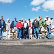 These 11 members of the Aero Club enjoyed a breakfast fly-in to Payson. Photo by J.R. Scheidereiter.