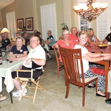 The Progressive Dinner brings out smiles as Crystal Drive neighbors gather for friendship, fun and food!