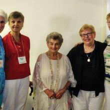 Garden Club Presidents (left to right) Debby McDonald, Margorie Wright, Eleanor Davis, Judy Yaryan and Diane Beatty