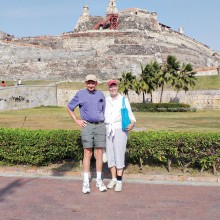 Pam and Ray Johnson in Cartegena in April