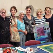 Pictured (left to right) JoAnne Horner, Judy Yaryan, Sheila Petriello, Sally Kiste, Joyce Weary, Penny Benjamin Peterson (Instructor), Jill Townsend and Jill Curcio. Photo taken by Diane Hitt.