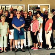 Good food and good friends were enjoyed at the Aero Club's potluck! Photo by Dorothy Vacin.