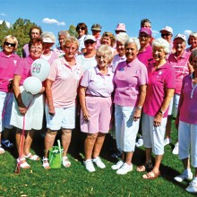Sun Lakes Lady Niners celebrated Rally for a Cure Day on April 14 honoring those women who have cancer or those who have survived cancer.