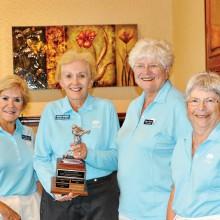 OLNGA Jo Williams Low Net Winners Tuny O'Rorke, Phyllis Madison (Champion), Sheila Bossio, Clarisse Zornes
