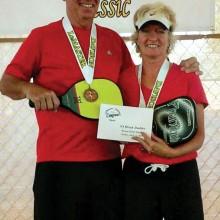 Steve Smitham and Sheila Parkinson, bronze medal winners awarded $50.