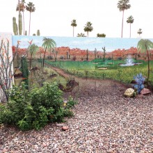 Marilyn Conner painted this mural on her fence and can now enjoy spring all year long!