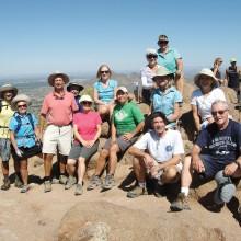 Members of the Sun Lakes Hiking Club take a break!