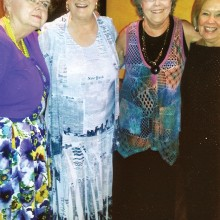 New officers pictured (right to left) Treasurer Anne Bracchi, President Rose Pachura, Secretary Shirley Mukhar (absent – stand-in was Sandra Yokobosky) and Vice President Jacquie Peterson.