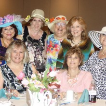 Guests of the High Tea and Fashion Show wore beautiful hats and white gloves.