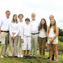 Grandma and Grandpa and their six grandkids (Pat, Dick, McKenzie, Casey, Patrick, Hanna, Haley and Nicholas).