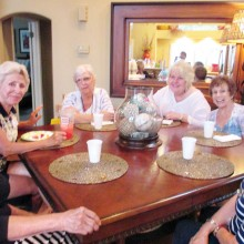 The Women's Exchange Group is enjoying cool summer Thursday meetings once a month throughout the hot summer months. If you are interested in food, fun and gal time, please join us!
