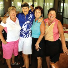 Pinky Kubiak, Cheryl Reed, Bonnie Moore and Marci Koppelmaa at a tournament at Briarwood Country Club in Sun City West
