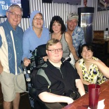 Pictured (back) Chris and Annelle Newcomb, Sandy and Ralph Casale; (front) Cody Newcomb and Brooke Jones