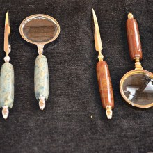 These handles are made of stone – join the Rock, Gem and Mineral Club to learn how you can make these!