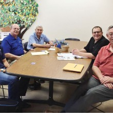 Pictured left to right are Mark Menasci, owner of Metro Valley Computers, Eric Ehst, Executive Director of NWC, Frank Difrancesco, NWC Network Manager, Bryan Johnson, Marketing Director of Orbitel Communications and Tom Adamson of San Tan Crown Rotary.