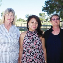 Pictured left to right are Vicki McClellan, Elsa Armstrong and Irene Arrigo.