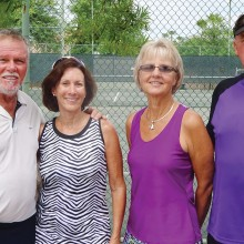 Winners of the IronOaks Mixed Doubles Clay Court Tournament.