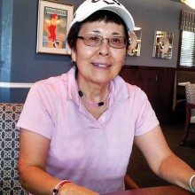 Joyce Parker describes her hole-in-one.