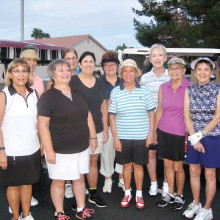 Dedicated IWLN Summer Players: Left front, Ann Gavin, Linda Liberti, Denise Fleshner, Marcia Gaudioso, Joan Sloan and BJ Krause; left back, JoAnne Gaudioso, Susan Schaeffer, Judy Frink and Susan Meer. Not in photo: Rachel Enloe, Julie Collier and Clarisse Zornes