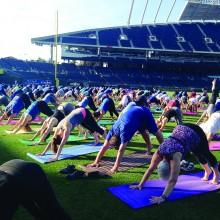 Take a Vinyasa yoga class!