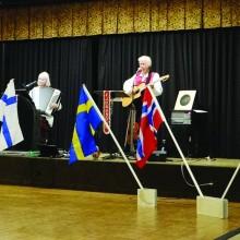 Presentation of Scandinavian flags.