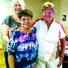 Joey Danforth (middle) pictured with Louise Keyack and Pinky Kubiak celebrated her 99th birthday with the SLLGA.
