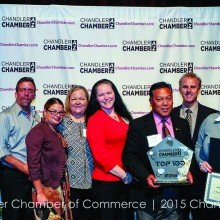 IronOaks staff received an award for making the Chandler 100 list!