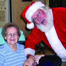 Santa pops in for a visit to one of NWC's clients!