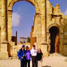 Randy and Jane Roter and Ray and Jeanette Rajamaki in Jerash, Jordan.