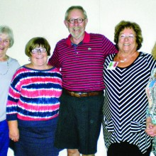 The 2015-2016 Board of the Sun Lakes Italian Club are from left to right: Co-Vice President Betty Tuzzolino, Treasurer Carole Anne Smith, Sergeant-at-Arms Michael Smith, President Marie Szymanski, and Secretary Donna Haugland. Not pictured are President Elect Linda Schwartz and Co-Vice President Janet Bideaux.