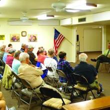 Chandler Mayor Jay Tibshraeny spoke at the November meeting of the Men's Club.